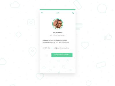 Innercircle Profile UI mobile mockup typography branding vector illustration app ux ui flat design
