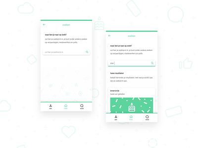 Mobile Search UI minimal icon vector illustration app ux ui flat design