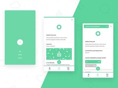 Mobile Poll UI icon vector flat design mobile app app ux ui poll mobile
