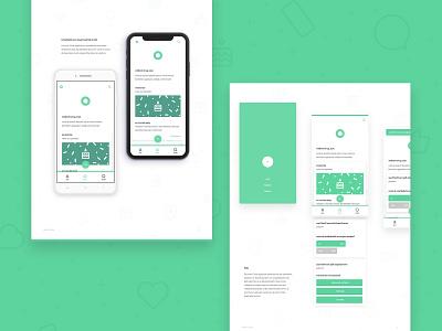 Inner Circle Portfolio Display website mockup display document portfolio branding vector app illustration ux ui flat design