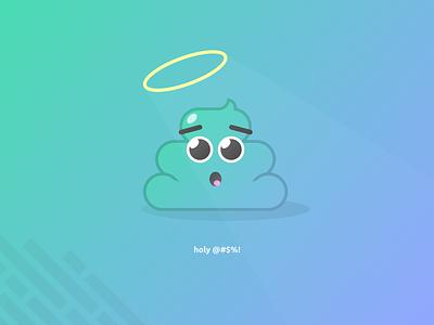 Holy @#$%! branding icon illustration app ux ui flat design