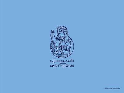 logo design for kashtidaran online capitan mascot logo mascot creative sign branding logo design logos logo design ship