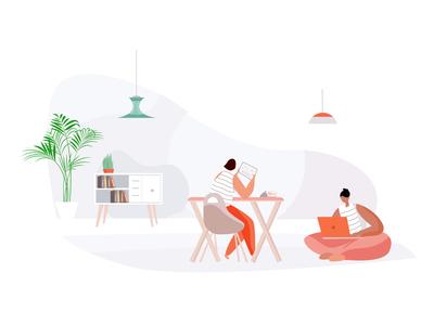 Work space illustration