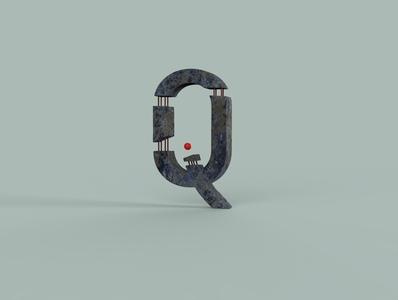 Q typography cg art cgart brand logo freelance minimal illustration branding