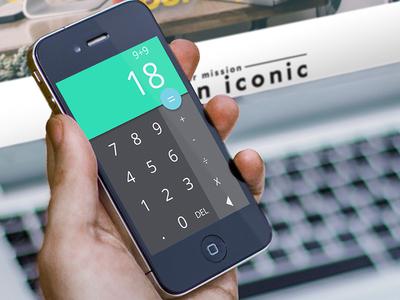 Mobile Calculator UI Design