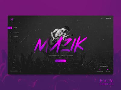 MUZIK - Music Web UI Design Concept