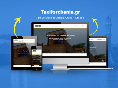 Website for Taxiforchania.gr taxi services taxi travel web design website