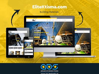 ELITE KTISMA   Building Materials Website wordpress theme wordpress web design and development web design website