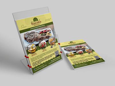 Bourakis Restaurant Flyer Design design graphic design flyer design