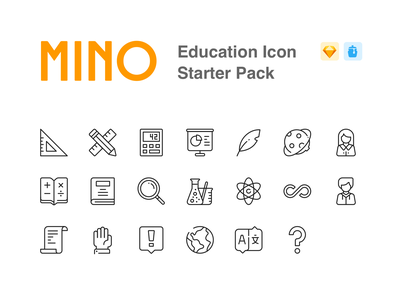 MINO Education Icon Starter Pack minolabs education illustration design icon devinwang