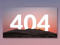 Parallax 404 Error page