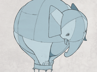 Elephant Air Balloon
