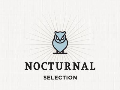 All-Nighter Kit owl logo packaging branding vector