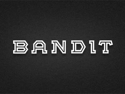 Bandit logotype logo fashion typography letterform