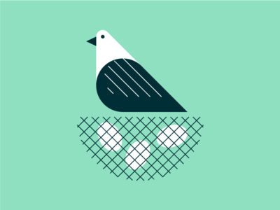 Bird's Nest flat vector illustrator illustration eggs nest bird