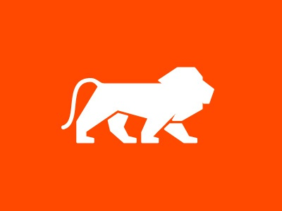 Lion lion logo icon vector illustration identity symbol