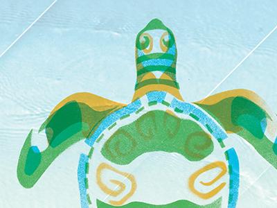 Turtle turtle illustration beach water layers animals