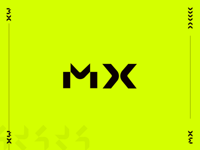 MX vector simple logo modern logotype black neon logo design branding simple icon design minimal minimalistic logodesign playoff logo