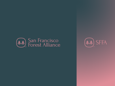 San Francisco Forest Alliance concept golden gate bridge trees san fransisco forest logo simple logo minimalistic logo design simple modern logo modern design icon gradient branding logo