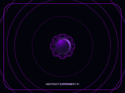 Abstract Experiment #1 poster simple lines 3d ball sphere circle atom icon abstract purple experiment illustration modern design gradient