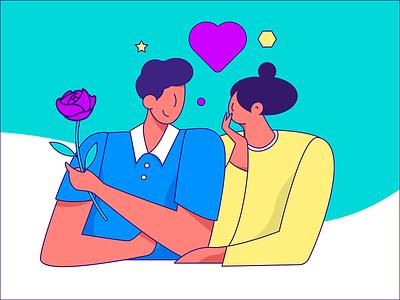 love love womans woman work branding color design flat vector illstrator illustration