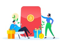 Bitcoin invites friends to get a gift