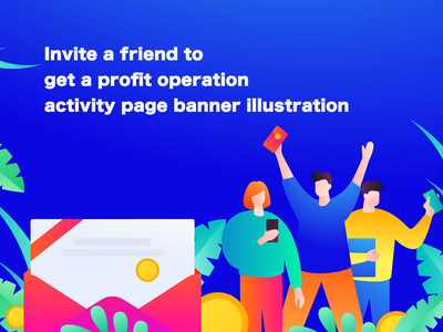 Invite a friend to get a profit operation activity page