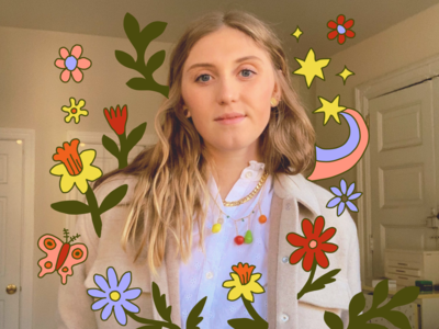 Self Portrait stars star hand color environment nature butterfly flowers leah schmidt leahschmidt leahschm florals spring design art digital doodle drawing portrait illustration