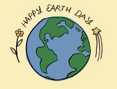 Earth Day 2020 happy globe graphic art design illustration leah schmidt leahschm drawing environmental environment mother nature nature world earth happy earth day