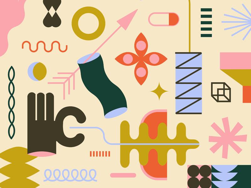 fun! graphic design line vector art art vector illustration color shapes