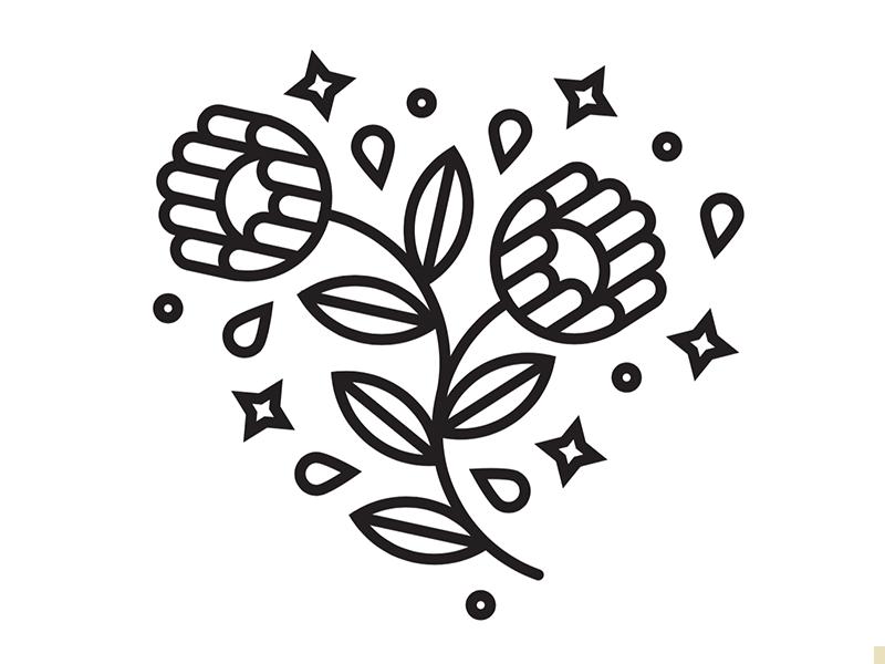 Spring illustration icon flowers spring