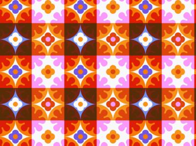 Flower Pattern 3 graphic vector color art leahschmidt leah schmidt leahschm design illustration nature flower pattern flowers