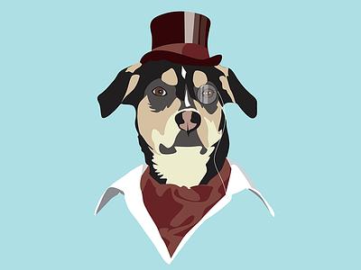 Olive humor fantasy color design illustration dog