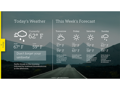 GoBoard Weather layout weather uxui ux graphic design design