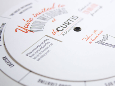 Wedding Wheel design copywriting event marketing hospitality hotel marketing volvelle letterpress