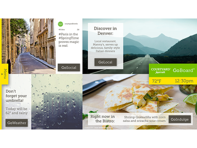 Goboard Home virtual concierge digital sign hotel uxui graphic design hospitality interactive ux design