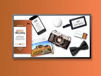 Camby hospitality graphic design design interaction design virtual user experience uxui interactive hotel