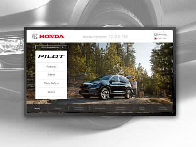 Honda digital interactive art direction uxui interaction design design dealership vehicles cars