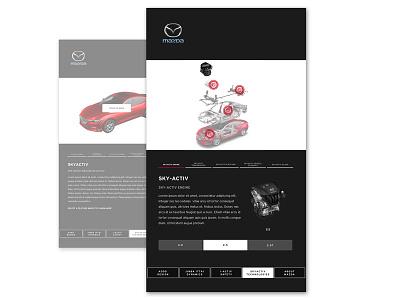 Mazda Sub-Screen digital interactive art direction uxui interaction design design dealership vehicles cars