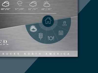Daimler Navigation on-state iconography icons interaction design interactive design navigation