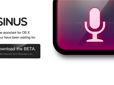 SINUS, your personal assistant for OS X. sinus osx microphone