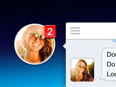 Chat Heads for OS X®, finally. chat heads mac app app icon badge avatar message bubbles betty