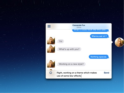 iOS 7 like Chat Heads chat heads chat messaging messages frost ios 7 blur