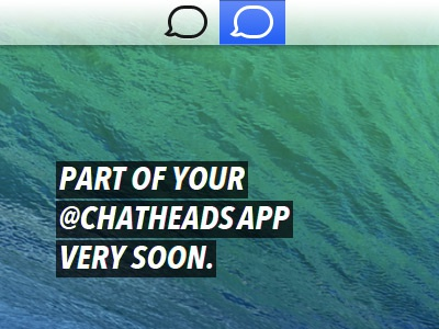 Chatheads app menu icon dribbble