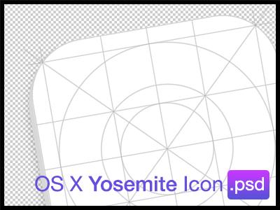 OS X Yosemite Icon Grid (PSD) os x yosemite icon mac freebie psd grid ios 7