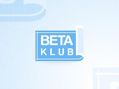 β KLUB logo blueprint plan corporate design
