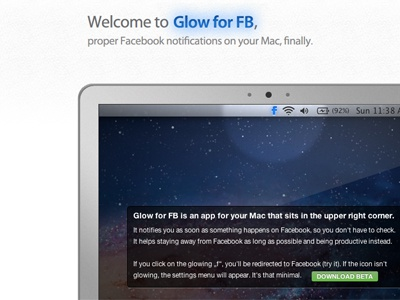 Glow for FB (Facebook notifications) glow notifications facebook blue shine