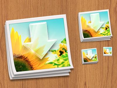 Photos App Icon photos mac glass sunflower retina