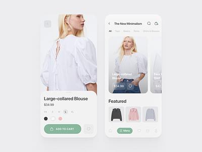 Online shopping app clean mobile ui store app online shop fashion app fashion ux ui design