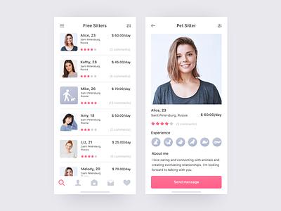 Daily UI Design Challenge #006 — User Profile pet design daily ui 006 adobe xd daily ui app concept app ux ui